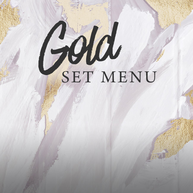 Gold set menu at The Old Bulls Head
