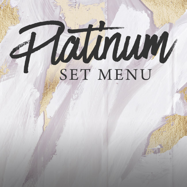Platinum set menu at The Old Bulls Head