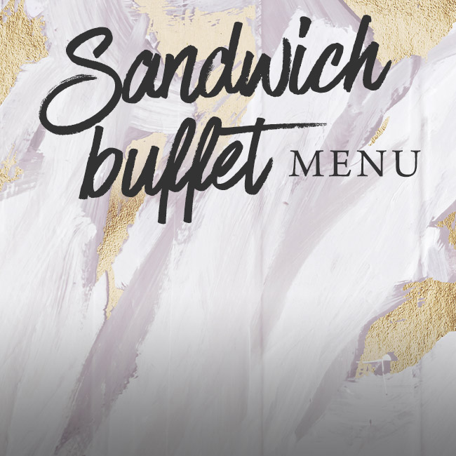 Sandwich buffet menu at The Old Bulls Head