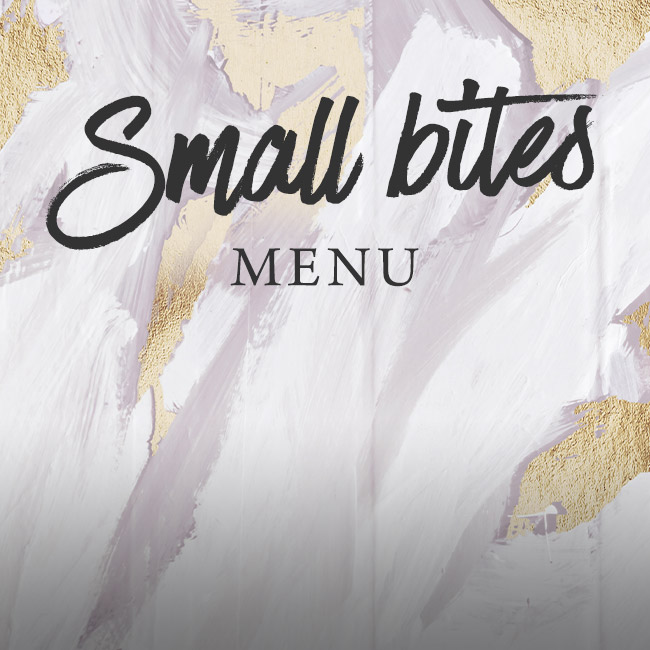 Small Bites menu at The Old Bulls Head
