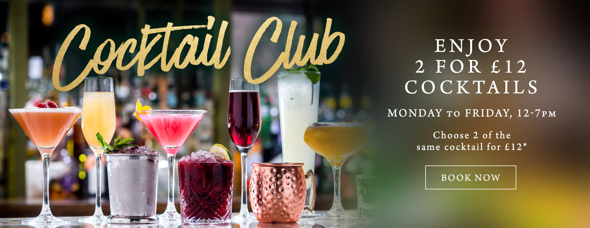 2 for £12 cocktails at The Old Bulls Head